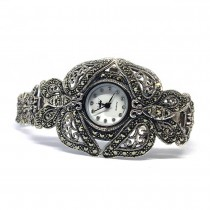 Big Butterfly Ladies' Sterling Silver Wrist Watch with Marcasites
