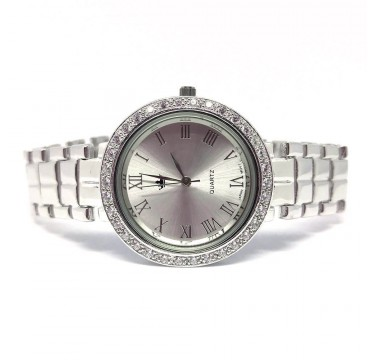 special jewelry 925 sterling silver mens wrist watch with diamond CZs