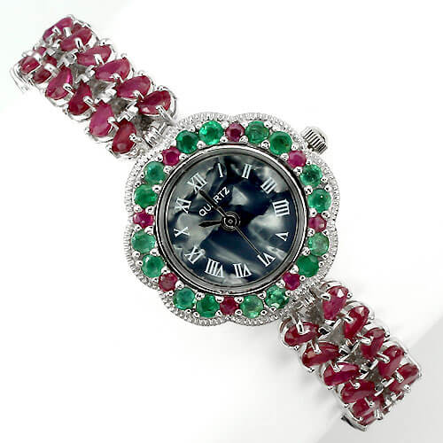 for gold ruby emerald hathphool women bridal copper biyu plated