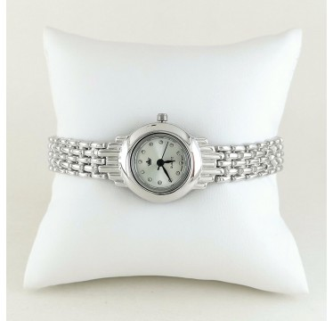 Beautiful Sterling Silver Women's Wristwatch Without Stones
