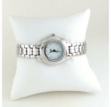 Classic Design Solid 925 Sterling Silver Wristwatch for Women