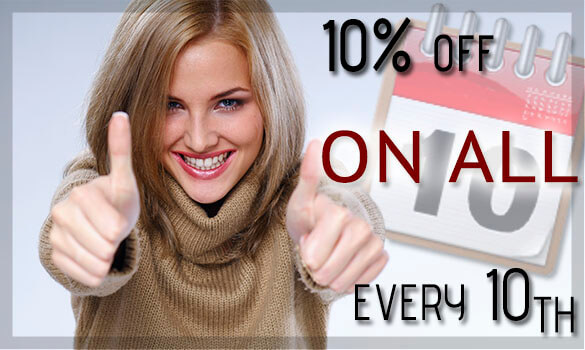 10% off on all watches every 10th